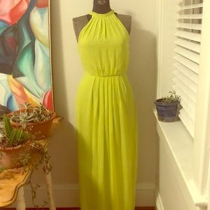 Ted Baker Lime Green Maxi Dress SZ 1 🌟
